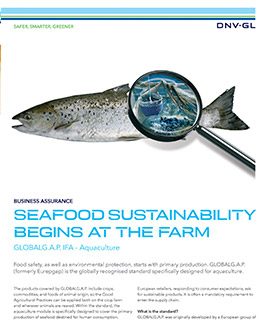 GLOBALG.A.P. IFA – Aquaculture - certification by DNV GL