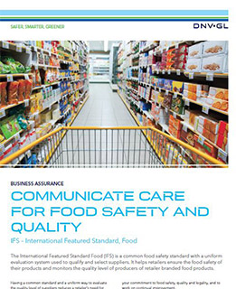 IFS – International Featured Standard, Food - by DNV GL
