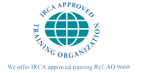 IRCA approved training organization with number 500x250